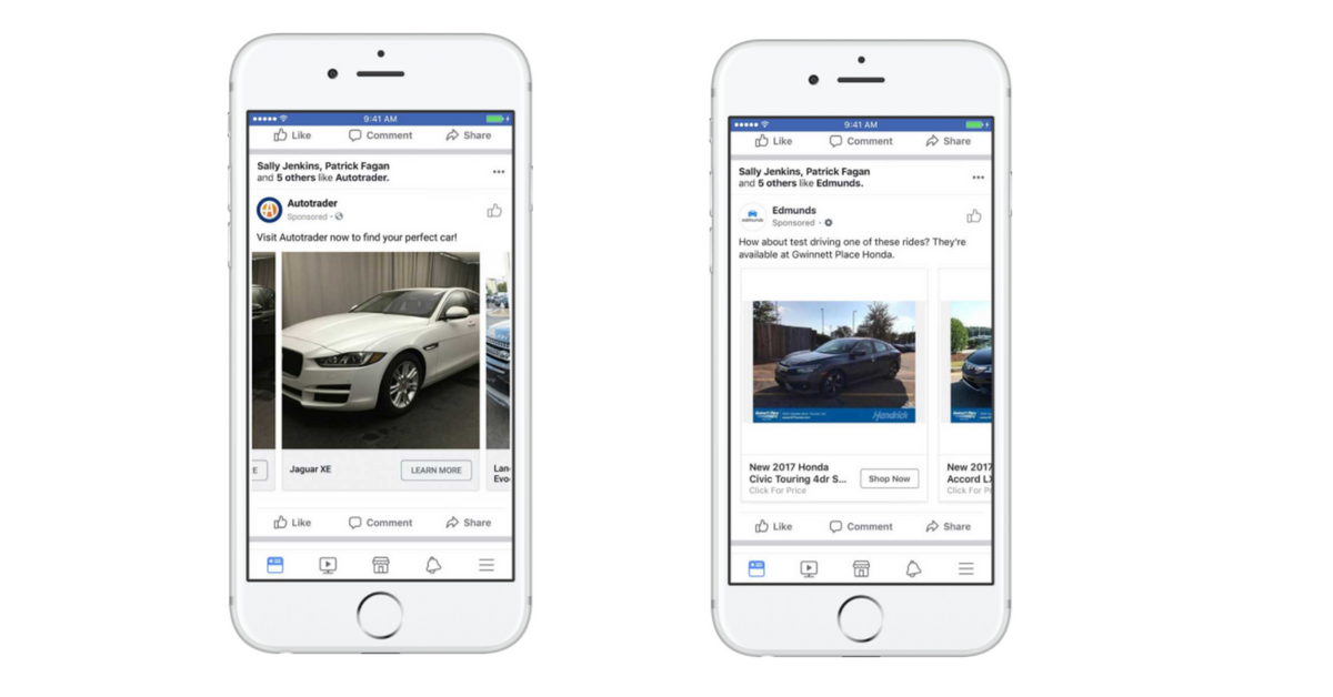 Dynamic Ads für Autos (Quelle: Facebook)