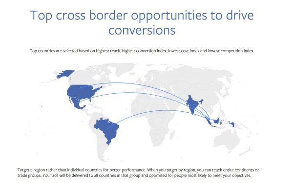 Cross boarder insights finder (Quelle: Facebook)
