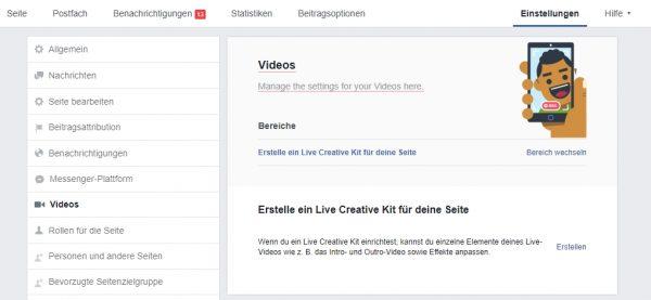 Live Frame für Facebook Seiten