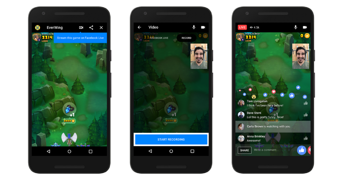 FB Instant Games - Live-Chat