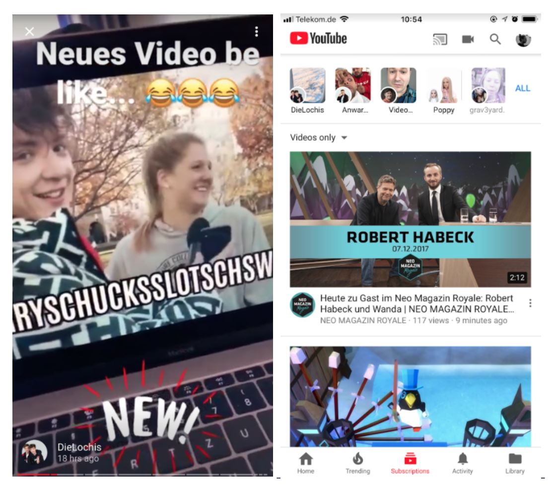 YouTube Reels (Quelle: YouTube)