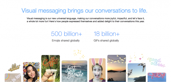 Year in Review - Visual messaging (Quelle: Facebook)