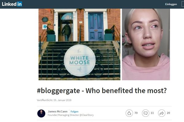 Screenshot #bloggergate - who benefited the most