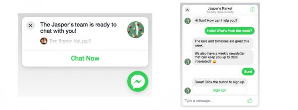 Anpassungen im Kunden-Chat-Plugin des Messengers (Quelle: Facebook)