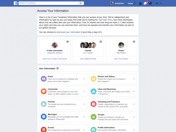 Access Your Ynformation (Quelle: Facebook)