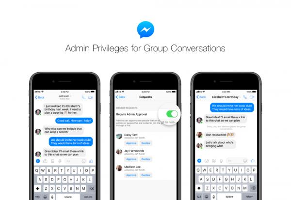 Messenger Gruppen Admin (Quelle: Facebook)