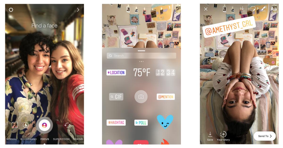 Instagram Fokus & Sticker