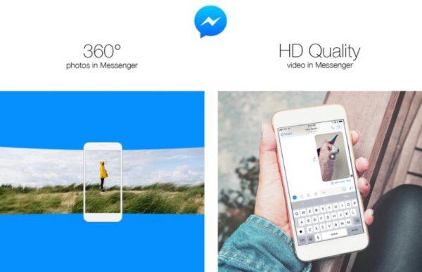 Facebook Messenger mit 360 Bildern und HD-Videos (Quelle: Facebook)