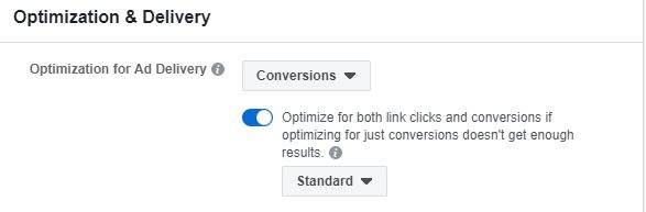 Conversion Optimierung (Quelle: Facebook)