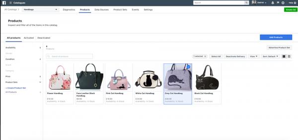 Produkte im Produkte Katalog deaktivieren (Quelle: Facebook)