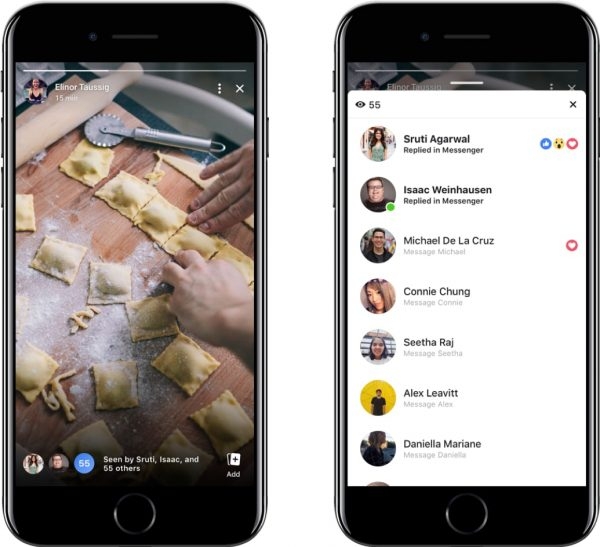 FB Stories Messenger Replies (Quelle: Facebook)
