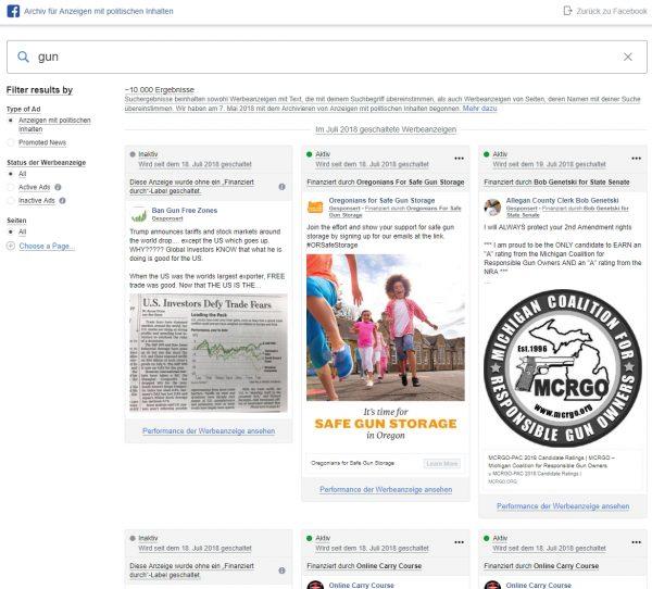 Archiv für Anzeigen mit politischen Inhalten