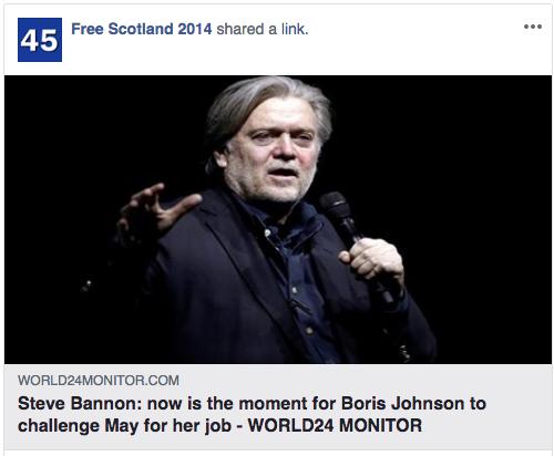 """Beispielinhalte von """"Free Scotland 2014"""" (Quelle: Facebook)"""