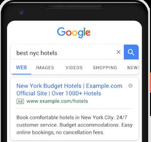 Dritte Headline bei Google Textanzeigen (Quelle: Google)