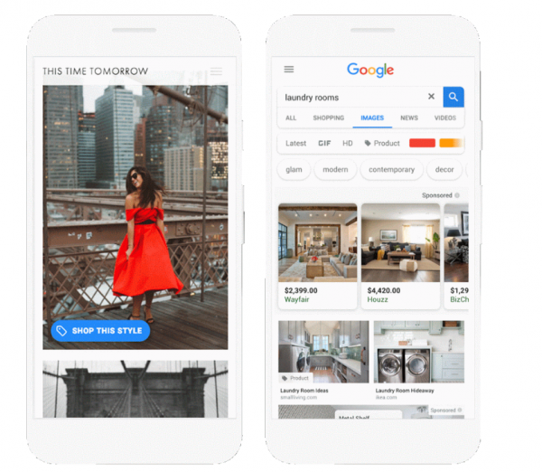 Shoppable Image Ads (Quelle: Google)