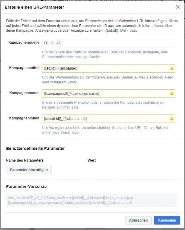 Generierung von URL-Paramter