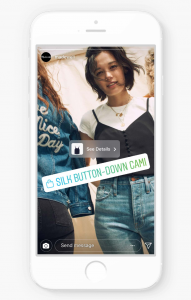 Shopping-Feature in den Stories (Quelle: Instagram)