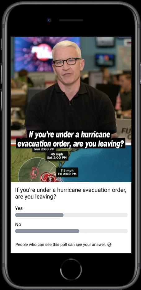 Anderson Cooper - Live Poll Beispiel (Quelle: Facebook)