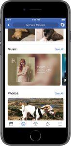 Neuer Musik-Bereich im Profil (Quelle: Facebook)