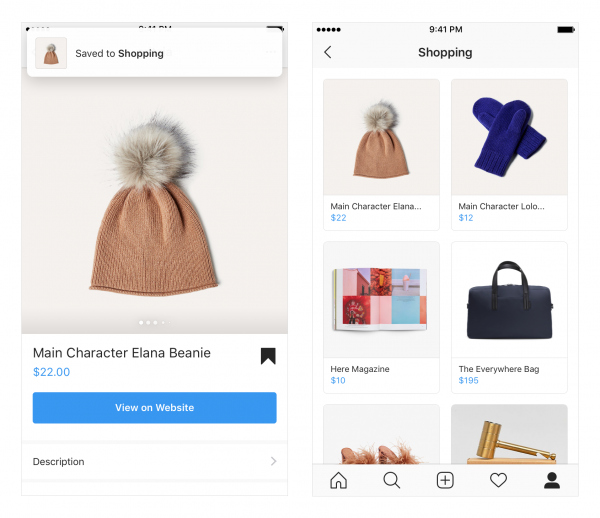 Instagram Shopping Sammlung (Quelle: Instagram)
