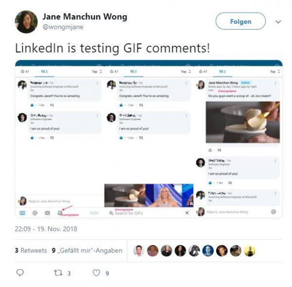 GIF Button in den Kommentaren