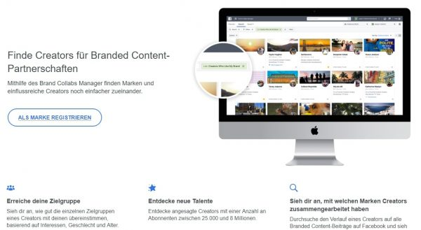 Screenshot Facebook Brand Collabs Manager