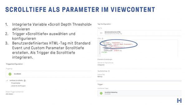 Scrolltiefe als Parameter im ViewContent
