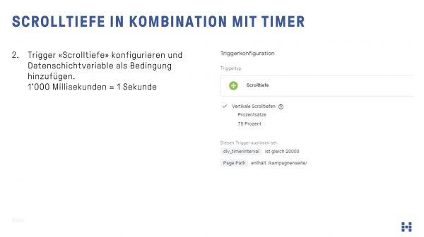 Scrolltiefe in Kombination mit Timer als Event für das Facebook Pixel