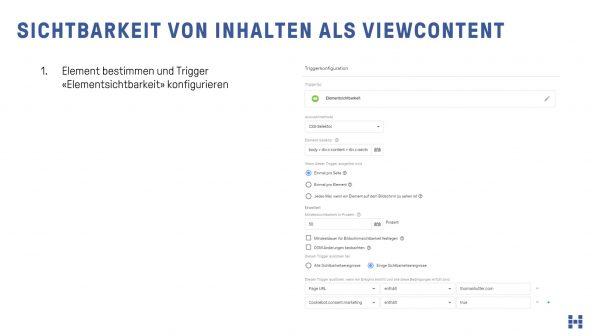 Sichtbarkeit von Elementen als Parameter im ViewContent
