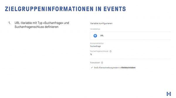 Zielgruppen als Information im ViewContent