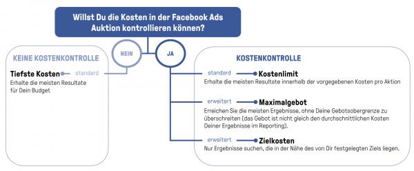 Kostenkontrollmöglichkeiten Facebook Auktion