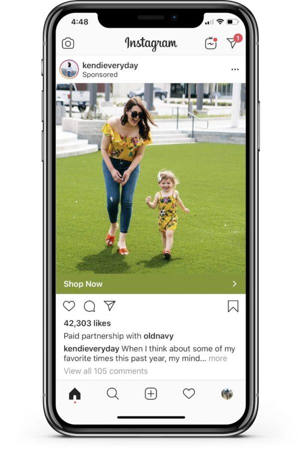 Beispiel für Branded Content Anzeigen bei Instagram (Quelle: Instagram)
