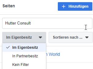 Filter- und Sortiermöglichkeiten im Business Manager