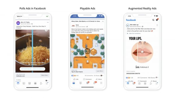 Poll Ads - Playable Ads - Augmented Reality Ads (Quelle: Facebook)
