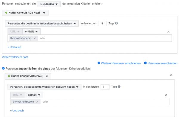 Screenshot: Custom Audiences, Facebook Business Manager
