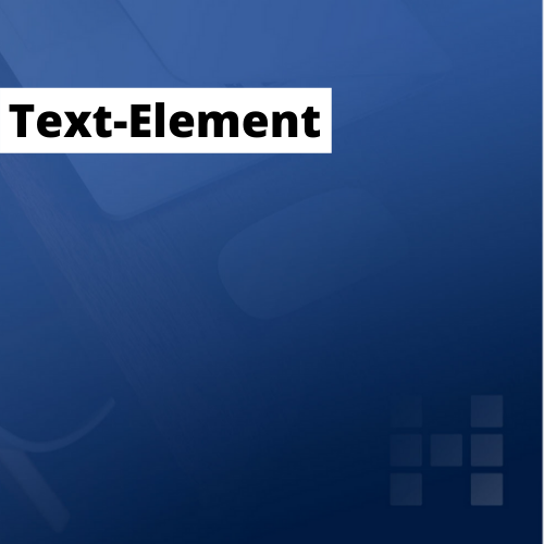 Visual mit Text-Element, Farbe Weiss