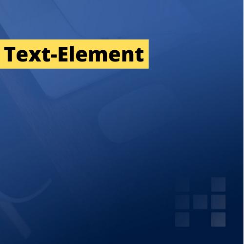 Visual mit Text-Element, Farbe Gelb