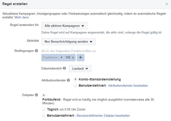 Automatische Regeln: E-Mail Benachrichtigung senden an E-Mail Verteiler bei Erreichen einer definierten Anzahl an Ergebnissen (zb. Leads)