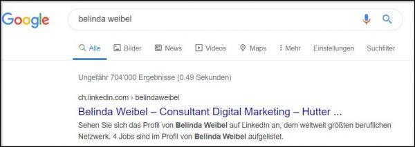 Google Suche (Quelle: Google)