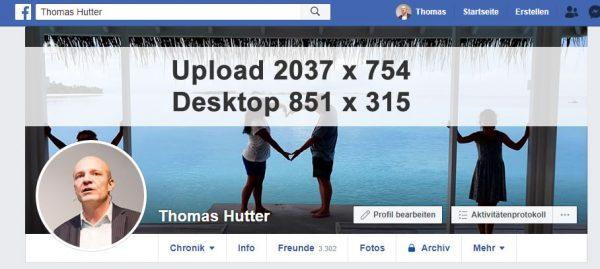 Facebook Profil Titelbild 2037 x 754 Pixel