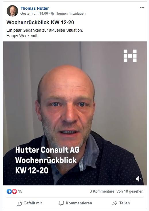 """Beispiel Inhalt """"Wochenrückblick"""" in Workplace"""