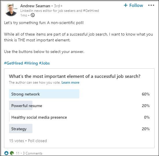 Beispiel LinkedIn Polls (Quelle: LinkedIn)