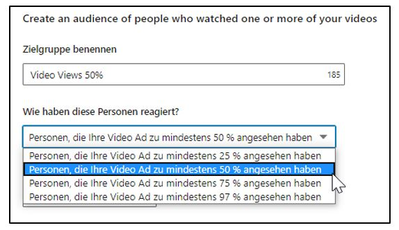 Matched Audience Video Views (Quelle: LinkedIn)