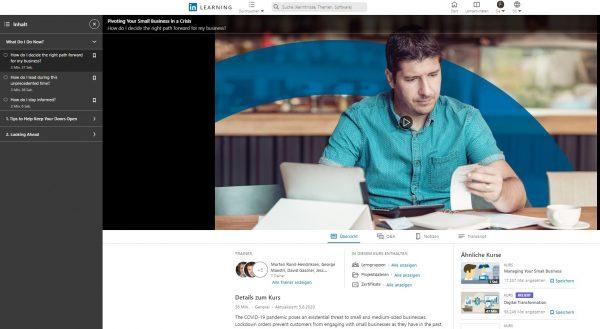 KMU in einer Krise erfolgreich lenken (Quelle: LinkedIn Learning)