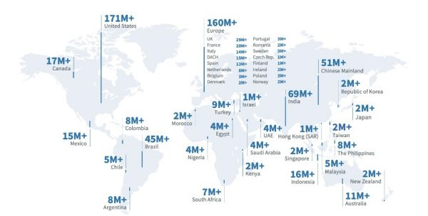 Neuste Statistik zur Mitgliederanzahl (Quelle: LinkedIn)