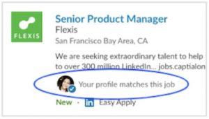 Vorgeschlagene Stellen für Arbeitssuchende (Quelle: LinkedIn)