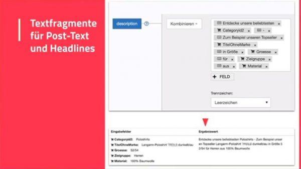 Dynamische Erstellung von Anzeigentexten aus Katalogdaten (Quelle: AFBMC München, Andreas Grimm)