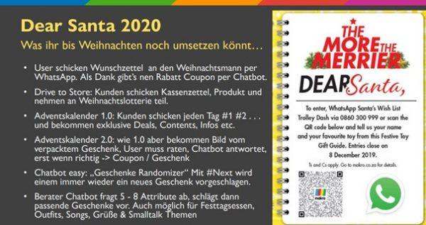 Ideensammlung für WhatsApp-Weihnachtsaktion (Quelle: AFBMC München, Matthias Mehner)