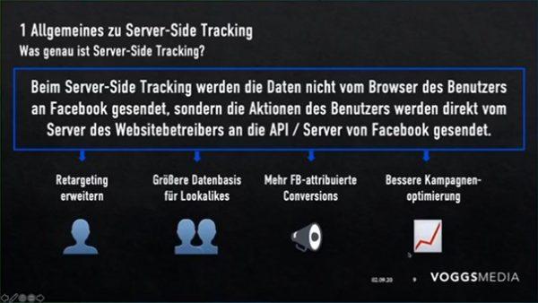 Vorteile des serverbasierten Trackings (Quelle: AFBMC München, Sebastian Vogg)
