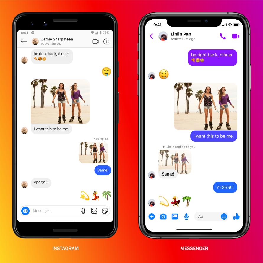 Messenger Instagram DM & Facebook Messenger werden eins ...